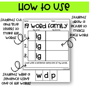 EDITABLE Word Family Packet
