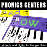Phonics Activities: short and long A, E, I, O, U words {Pianos Bundle}