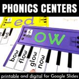 Phonics Centers for Kindergarten (Word Family Activities f