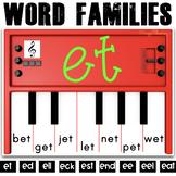 Phonics Activities: Pianos (short and long E)