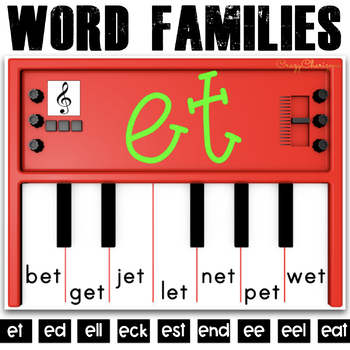 Word Families Activities: Pianos (E)