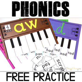 Free Word Families Activities Pianos