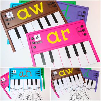 Word Families Activities: Pianos (U)