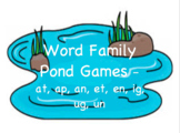 Word Families Pond Games