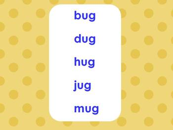 Word Families PowerPoints: Short Vowels set 2 for K or 1st (Common Core!)
