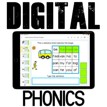 Phonics Activities {Puzzle Sentences} for Google Classroom™