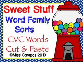 Word Families Practice : Sweet Tooth Rhyming Words