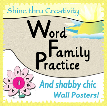 Word Family Practice and Wall Posters