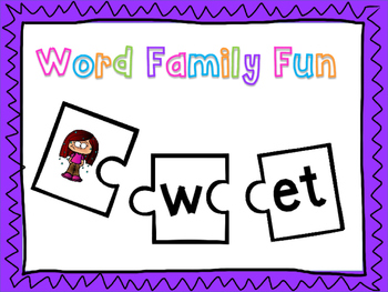 Word Families Puzzle