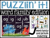 Word Families Puzzlin' It