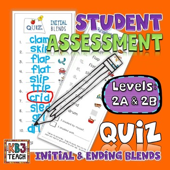 Word Families Quiz Packet (Dictation & Student Self-Assessment) LEVELS 2A & 2B