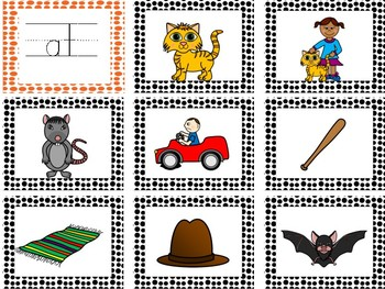 Word Families- READ and MATCH-Phonemic Awareness/Rhyming Game