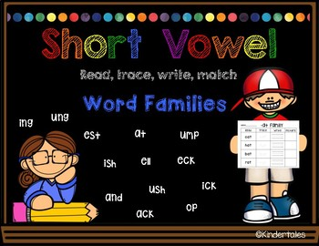 Word Families: Read, Trace, Write...