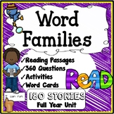 Word Families Reading, Activities {180 Reading Passages, 3