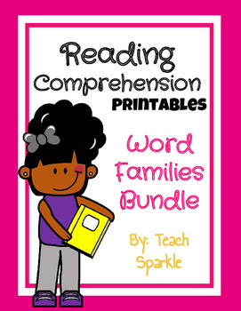 Word Families Reading Comprehension Printables Bundle