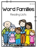 Word Families Reading Lists