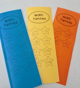 Word Families. Reading booklets.