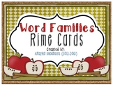 Word Families - Rime Cards