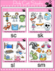 Clip Art Word Families: S Blends Clip Art - Personal or Commercial Use