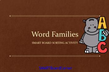 Word Families SMART Board Matching Activities