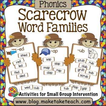 Word Families - Scarecrow Match
