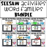 Word Families Seesaw Activities Digital BUNDLE Distance Learning