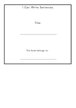 Word Families Sentences Book