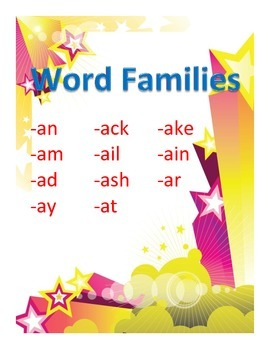 Word Families Set