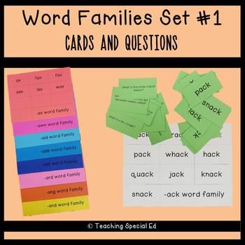 Word Families Set #1 - GROWING BUNDLE