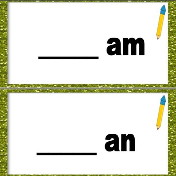 Word Families Set 1 -am and -an