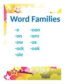 Word Families Set 2