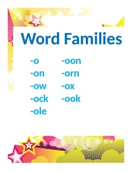 Word Families Set 2