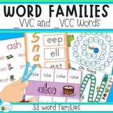 Word Family Stations for long and short vowel sounds