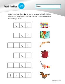 Word Families: Set #2 -og/-op/-ot