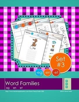 Word Families: Set #3 -eg/-en/-et