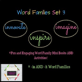 Word Families Set 3 -in and -it