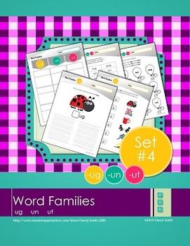 Word Families: Set #4 -ug/-un/-ut