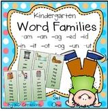 Word Families Activities for Kindergarten