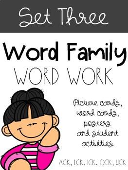 Word Families Set Three