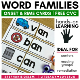 Word Families Short A CVC Onset and Rime Cards