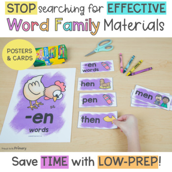 Word Family Activities for Short E