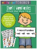 Word Families - Short E Word Family Picture and Word Cards