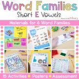 Word Family Activities | Short E | CVC & CVCC Instruction
