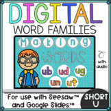 Word Families Short U for Seesaw and Google Slides Distance Learning