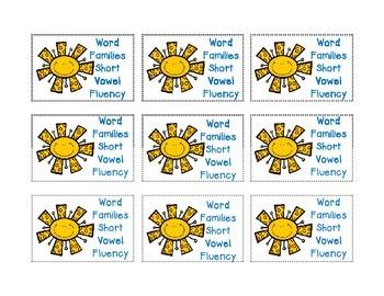 Word Families - Short Vowel Fluency