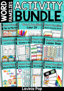 Word Families Activity BUNDLE