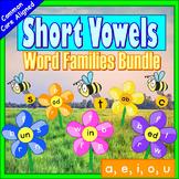 Word Families Kindergarten  Short Vowels Kindergarten | Short Vowels Activities