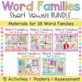 Word Family Activities Short Vowel Centers Bundle   CVC CV