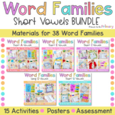 Word Family Activities Short Vowels Bundle  - CVC & CVCC I