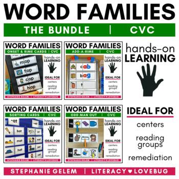 Word Families Short Vowels CVC Activities BUNDLE